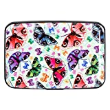 Aluminum RFID Blocking Wallet Identity Protection Travel Credit Card Case Butterfly