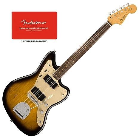 Fender Jazzmaster RW 2TS - Juego de guitarra eléctrica (tarjeta prepagada de 3 meses)