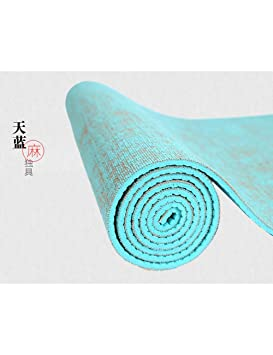 EYCFSJ 183 * 61 Cm * 5 Mm Natural Yute Yoga Pad Pad Eco ...