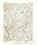 USGS Historical Topographic Map | 1888 Quakertown, PA |Fine Art Cartography Reproduction Print