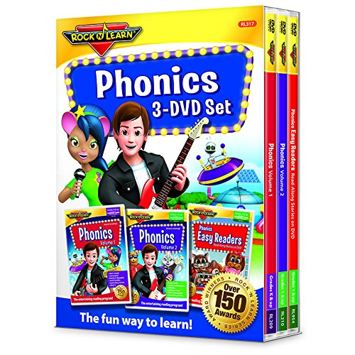ROCK N LEARN PHONICS 3 DVD SET (Fun Phonics Dvd)