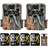 Two Browning Strike Force HD 850 Trail Cameras (16MP, Camo) with Four 8GB Memory Cards and Focus USB Reader