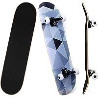 SKILEC Skateboard Completo, Monopatín para Adolescentes Niñas Niños Adultos Principiantes Tabla de Skateboard Madera de…