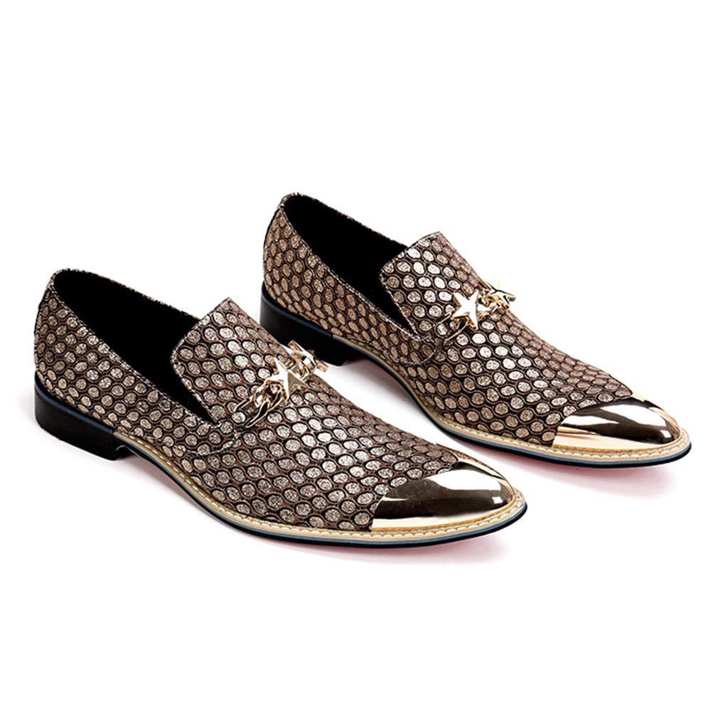 Herrenschuhe aus Gold beiläufige beiläufige beiläufige Spitze Schuhe 024834