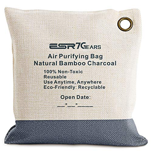 210 Charcoal - ESR Bamboo Charcoal Air Purifying Bag 210g One-Pack Charcoal Bags in Grey Color