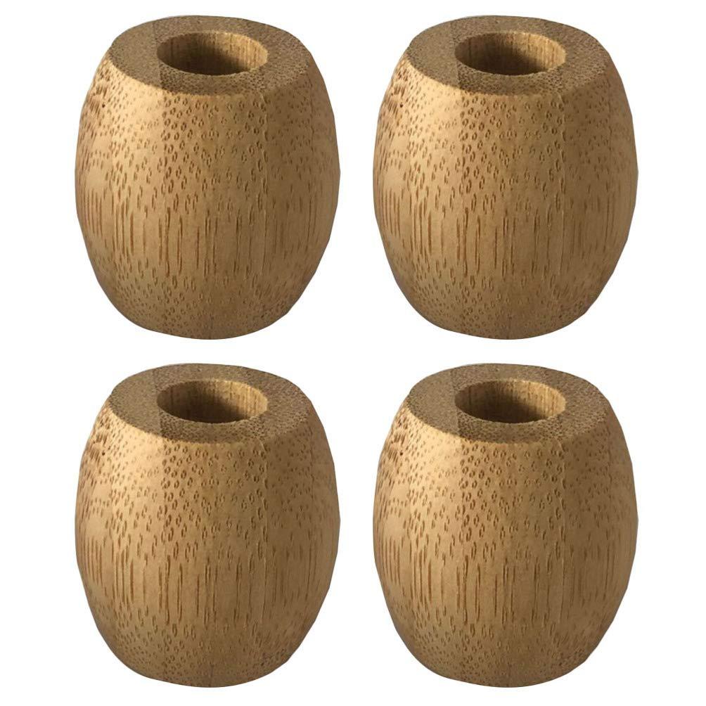 Milisten 4 Piezas Mini Soporte de Cepillo de Dientes de Bambú Que Ahorra Espacio Organizador de Soporte de Cepillo de Dientes Orgánico Pequeño Natural para Baño de Baño