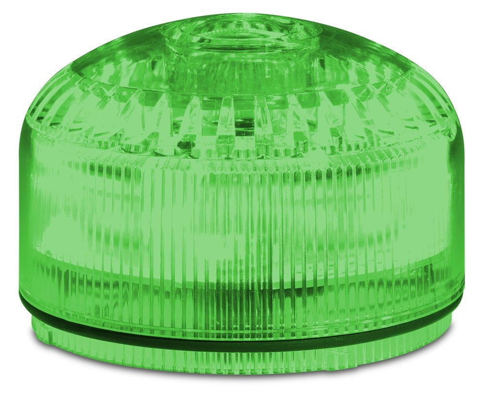 Federal Signal SLM500G Streamline Modular Low Profile Combination LED/Sounder, Green, Required Base Sold Separately, Polycarbonate