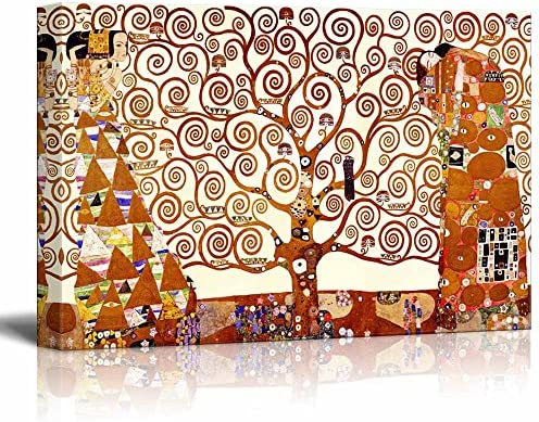 Stretched Print Famous Art Reproduction Tree of Life by Gustav Klimt