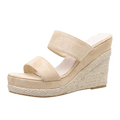 bbe06eb63fbe7 Amazon.com: OutTop(TM) Women's Wedges Sandals Ladies Summer Retro ...