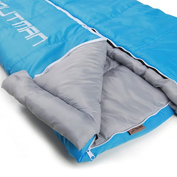 HM&DX Saco de Dormir Rectangular Adultos 4-Seasons Portátil Camping Bolsa de Dormir Llegar a Manos Saco de Compresión Hiker mochilero Viajar Actividades al ...