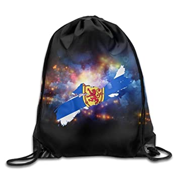 DHNKW Nova Scotia Map Flag Sackpack Drawstring Bags ...
