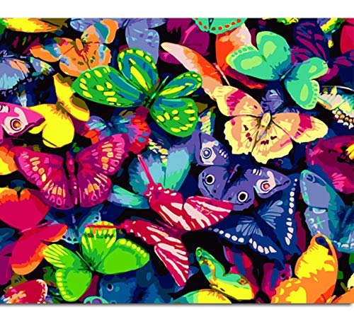 Jigsaw Puzzles 1000 Piece Wooden Puzzle DIY Butterfly Picture Home Game Toy Home Decoration Art ()