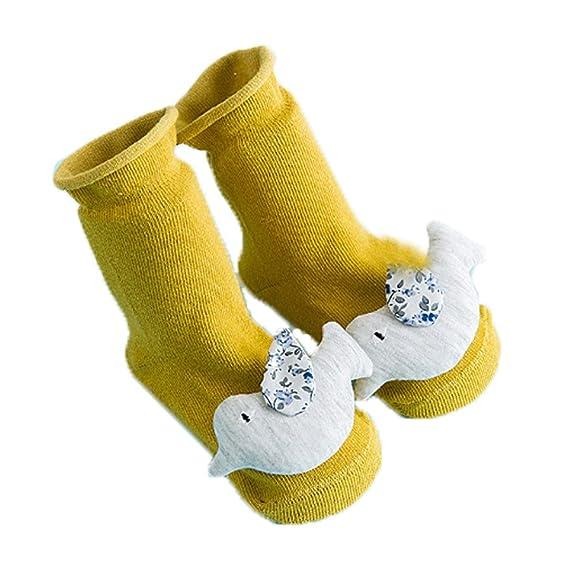 Newin Star Calcetines bebé,Calcetines Antideslizantes,Dibujo Animado Lindo Suave y Transpirable Algodón Puro
