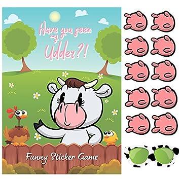 Happium - Pin la ubre en el Juego de Fiesta de cumpleaños de Vaca ...