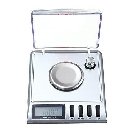 Digital de Báscula alta Precisión Miligramos, Joyería Escala 20 x 0,001 g, con Función de Tara, Peso de Calibración, Pinzas: Amazon.es: Bricolaje y ...