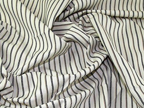Portuguese Linen & Cotton Blend Pinstripe Suiting Dress Fabric Beige - per metre -