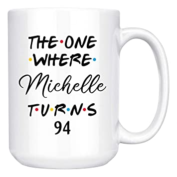Personalized 94th Birthday Mug Happy Party Gift For Her