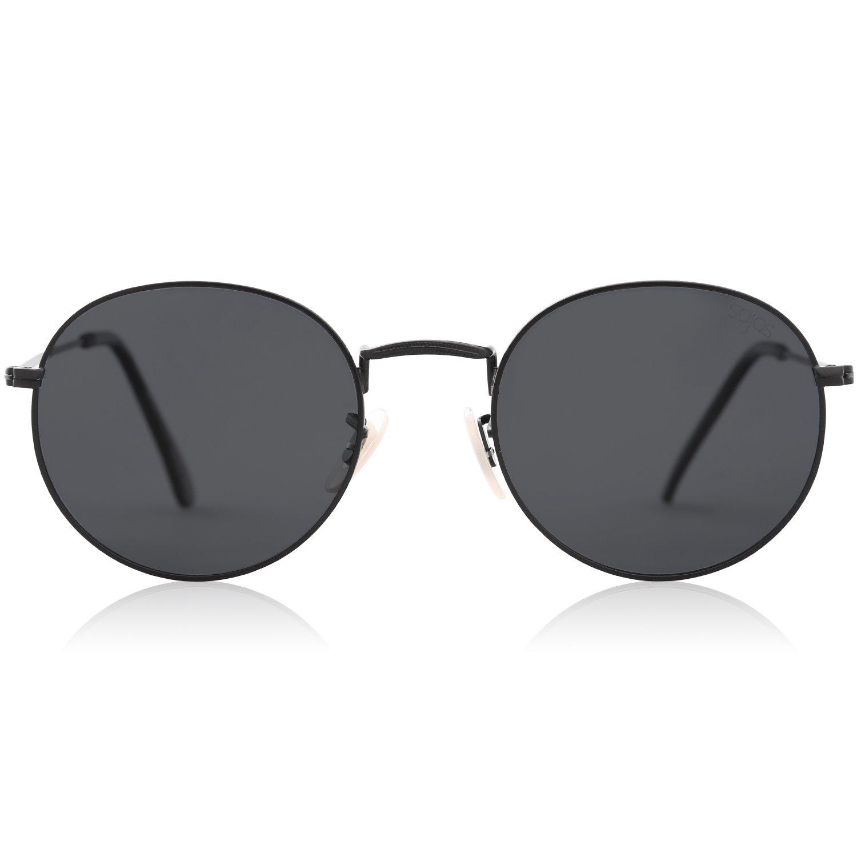 SOJOS Redondo Clásico Espejo Lentes Brillo UV Portección Polarizado Hombre Mujer Gafas de Sol SJ1014
