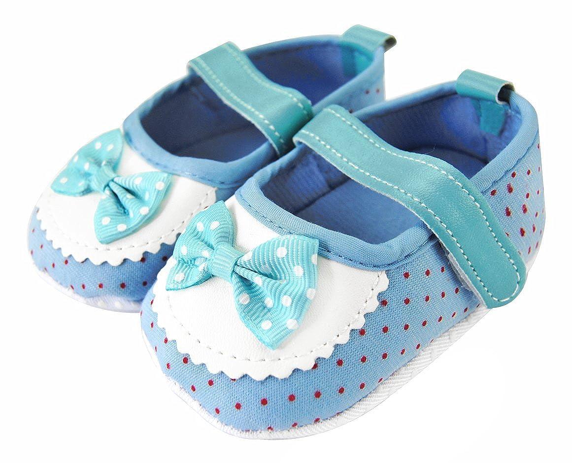 Axy Baby plastique Tapis D'éveil Chaussures Chaussures bébé 0à 12mois–Little Princess–Bleu BS4–2