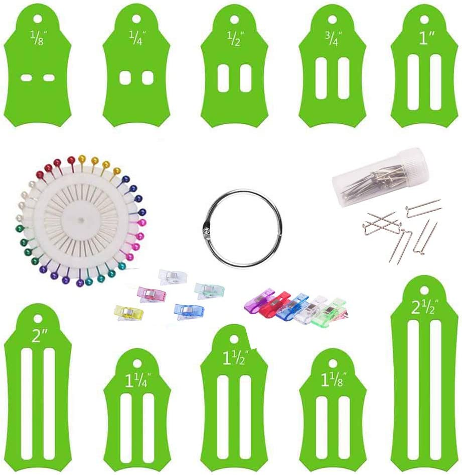 Jelly Roll Sasher Tool Set,bias Tape Makers,Jelly Rolls for Quilting,Quilting Supplies,Tool roll,Bias Tape Maker Set,Biasing Strips for Folding Fabric and Biasing Strips,Rolly Sasher Collection A