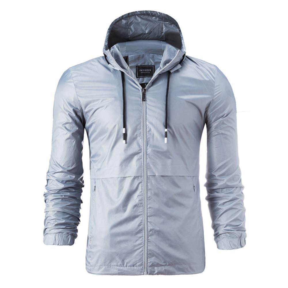 Pius Size Hoodies for Men, Corriee Fall Winter Casual Loose Solid Hooded Jackets Mens Classic Waterproof Outwaer Coat