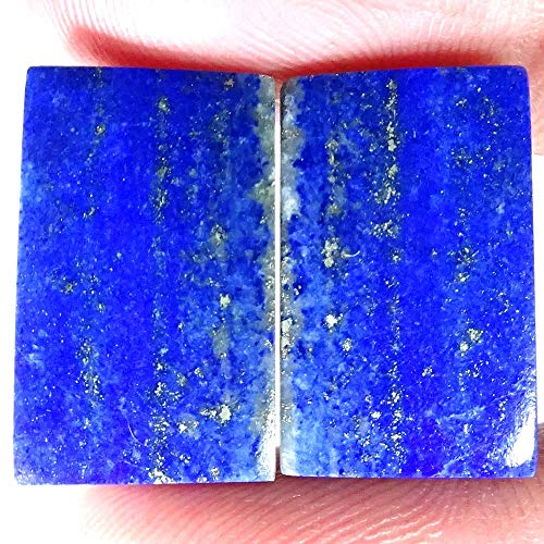 36.90Ct Natural Amazing Blue Lapis Lazuli Octagon Shape Pair Loose Gemstone