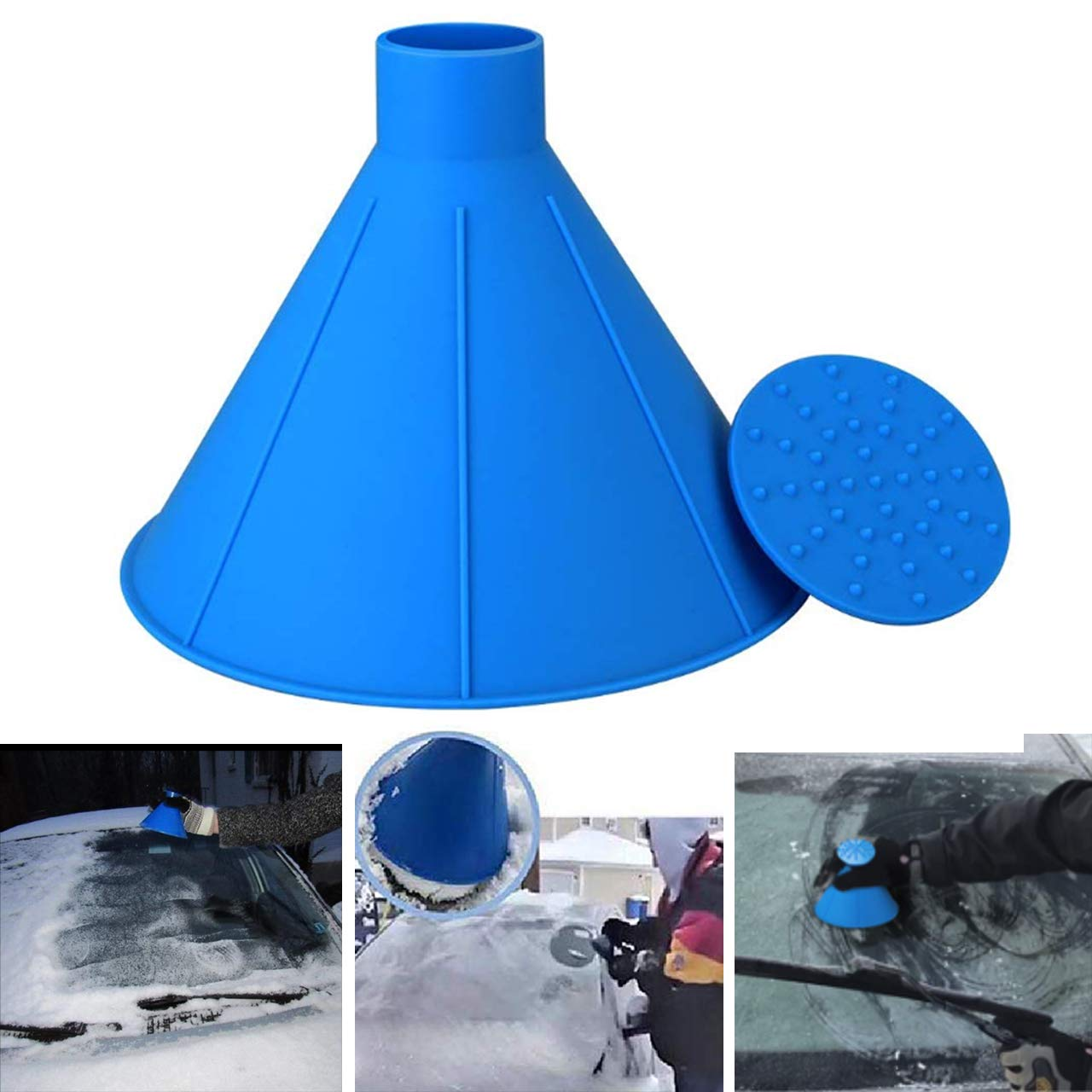 2 Sizes Cone Shaped Magic Scrapers with 6 Ice Breakers TheONE4US Ice Scraper for Car Car Windshield Snow Remover 10PCS
