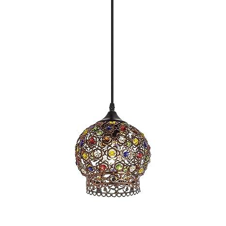 Lámpara de techo con elegante tulipa cristal mosaico ...