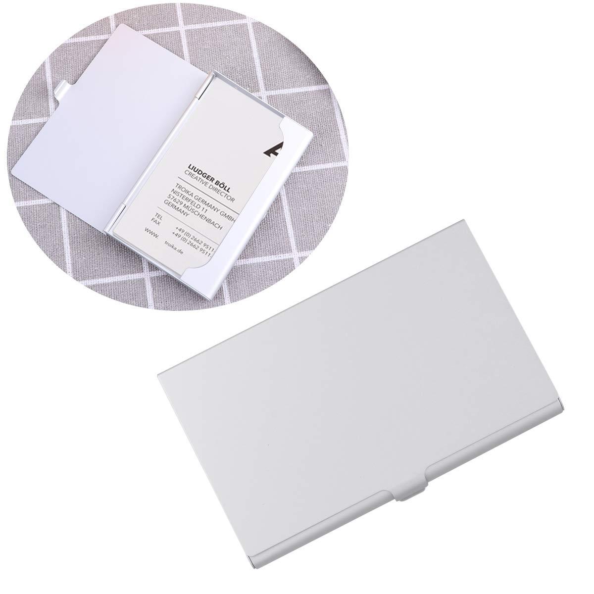 Toyvian Portable Nom de Titulaire de la Carte Porte-Cartes Nom du Bureau Organisateur de Cartes de Visite en m/étal Carte de cr/édit Case Organisateur de bo/îte