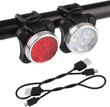 AXspeed - Juego de Luces LED para Bicicleta (Recargables, USB ...
