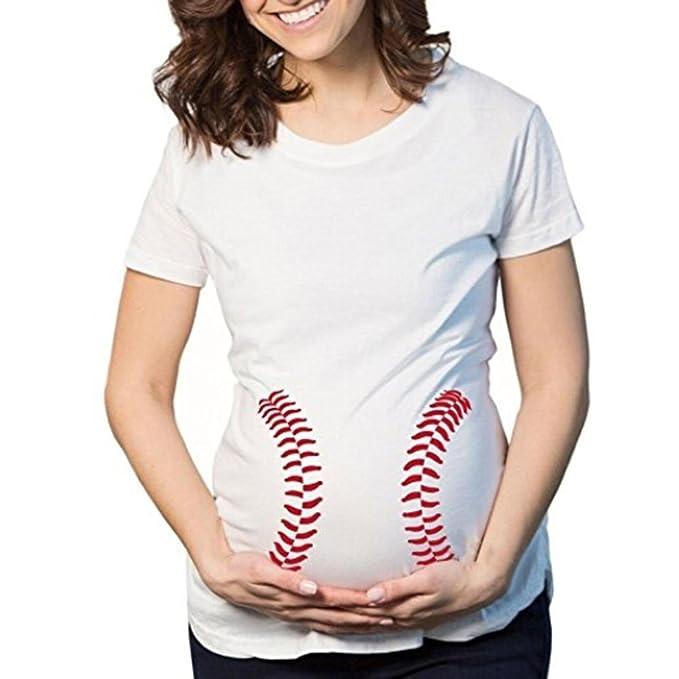 7554c03a5 Cinnamou Premamá Camisa de Embarazo de Maternidad Linda