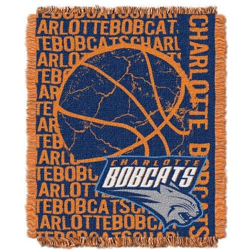 Northwest 019 NBA Charlotte Hornets Double Play Licensed Jacquard Triple Woven Throw, 48 x 60, Purple