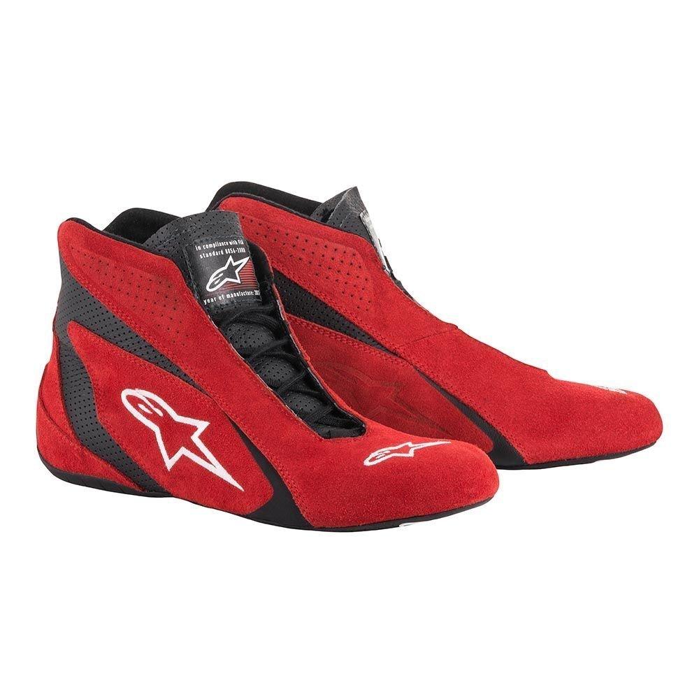 Alpinestars 2710618-31-7.5 SP Shoes , Red/Black, Size 7.5, SFI 3.3 Level 5/FIA, Suede