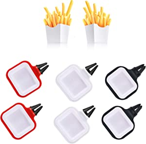 6 Pieces Sauce Holder for Car, Dip Clips for Sauce Holder for Car Air Vent, Portable Car Sauce Holder for Ketchup Dipping Sauces