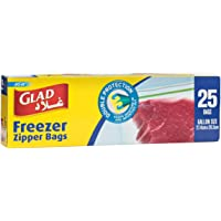 Glad Zipper Freezer Bags Gallon - 25 Count