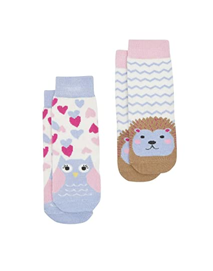 Amazon Com Joules Baby Girls Two Pack Character Socks Owl 2 3
