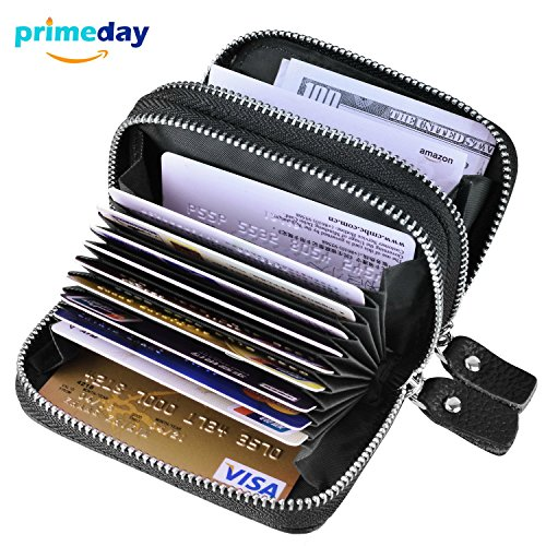 g Credit Card Holder Genuine Leather Credit Card Wallets Credit Card Case Coin Credit Card Purse for Women or Men Credit Cards Organizer, Black (Leather Multi Currency Passport Case)