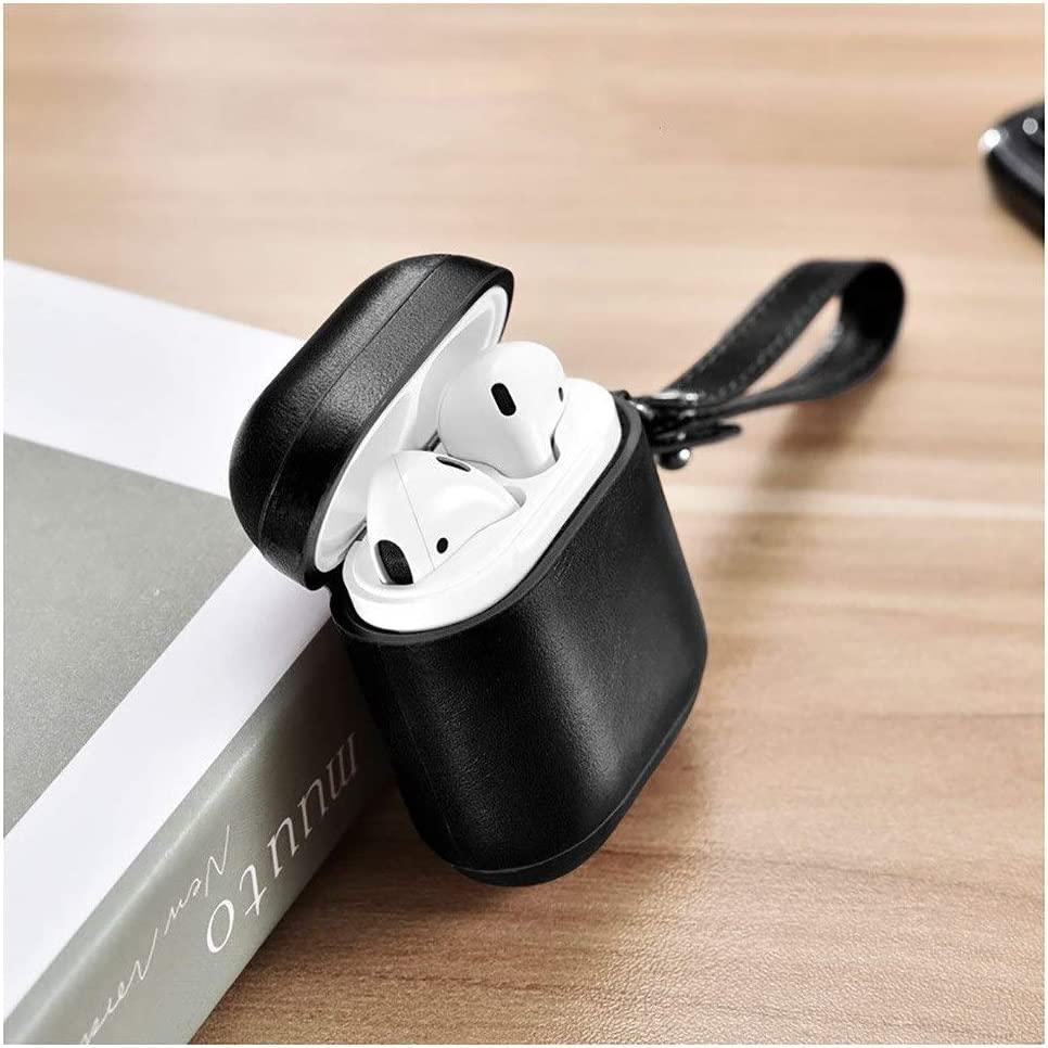 Leather QIANZICAI Headphone Box Color : Brown1 Bluetooth Wireless Headset Anti-Lost Lanyard Storage Accessories Shell
