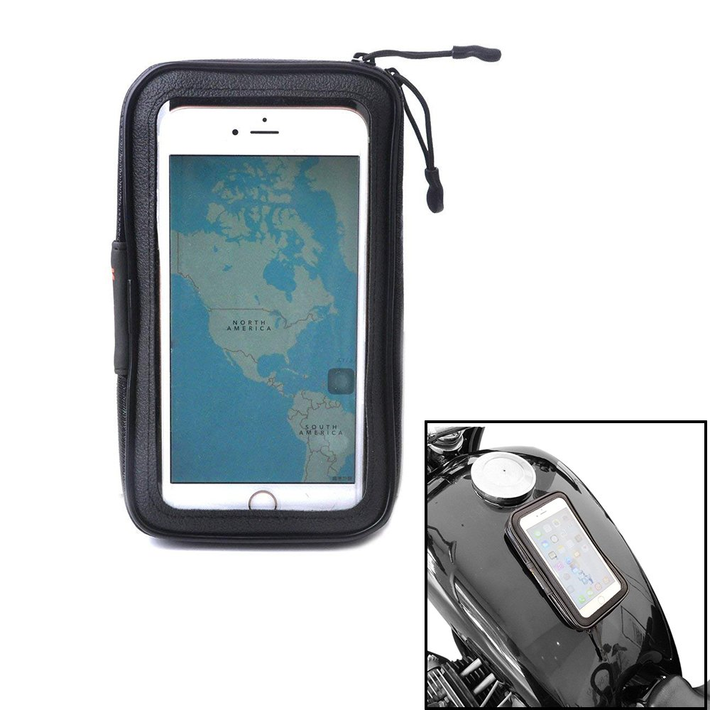 Small Magnetic Tank Bag KEMIMOTO Motorcycle Phone Case Pocket Pouch Touchscreen for Victory Honda Kawasaki Suzuki Yamaha BMW Sportbike Cruiser
