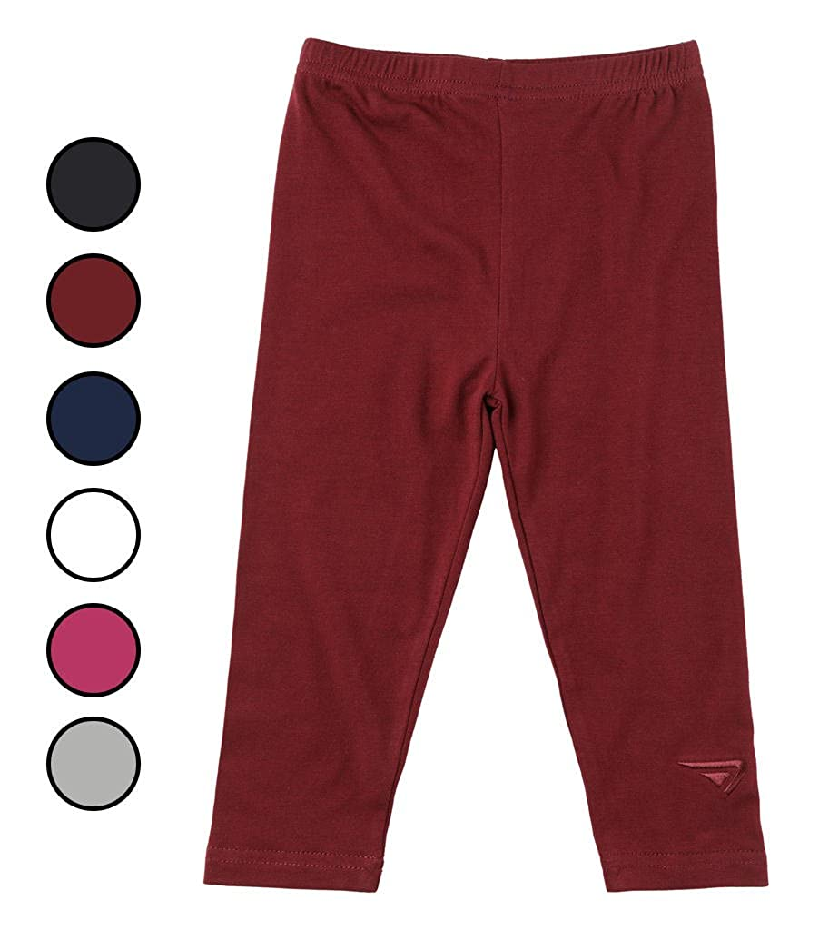 Sportoli Baby Girls and Toddlers Cotton Blend Jersey Knit Solid Long Leggings