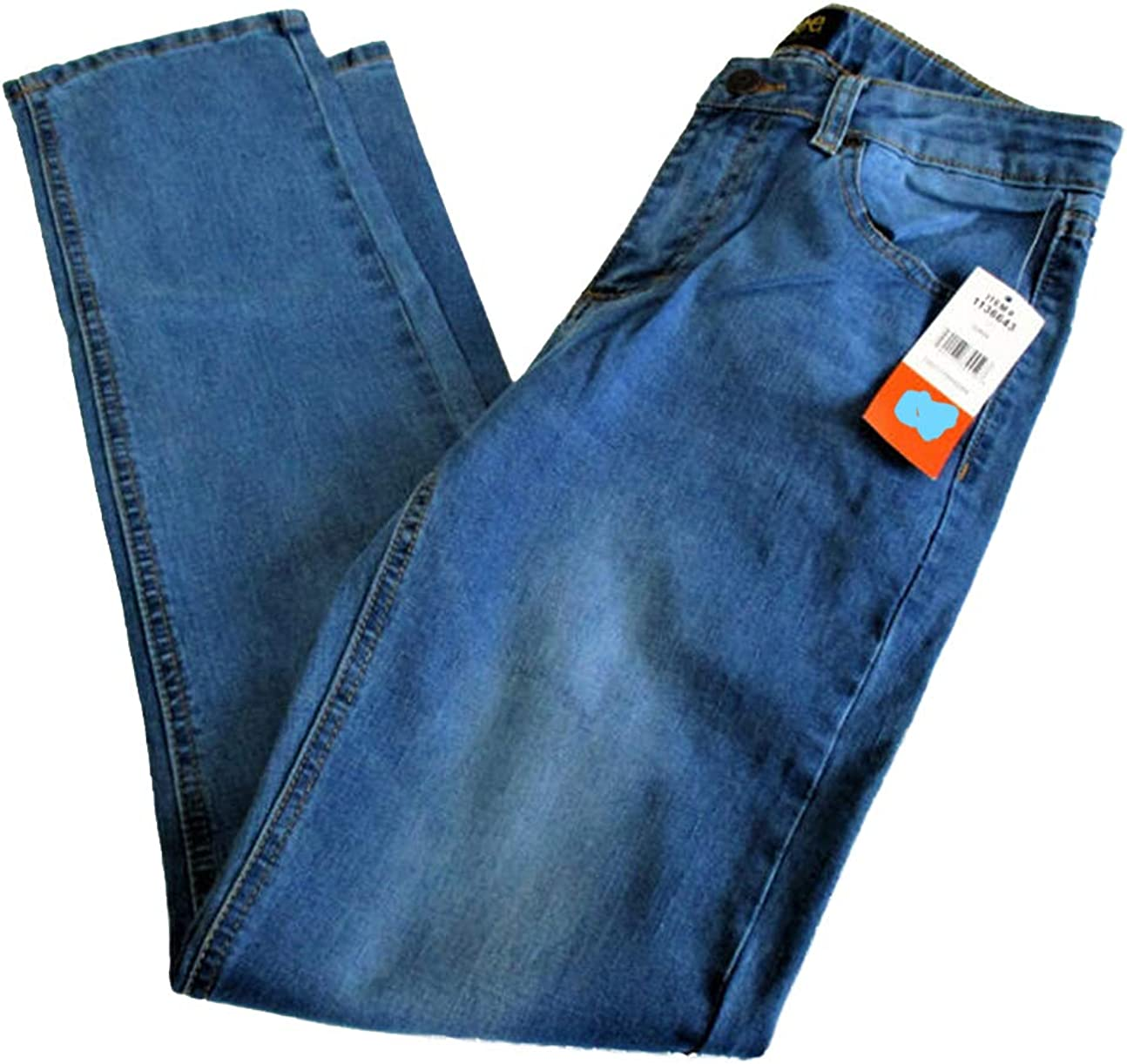 New Lee Boys Straight Leg Performance Strecth Jeans Light Wash Size Color Blue. 10