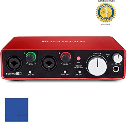 2nd Generation Focusrite Scarlett Solo USB Audio Interface