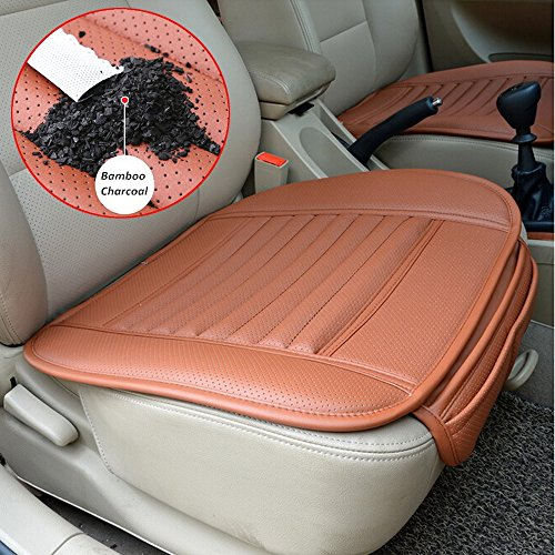 Tenozek Universal Seat Cushion PU Leather Car Seat Cover for Auto Car Office Chairs (Orange) (Sears High Chairs)