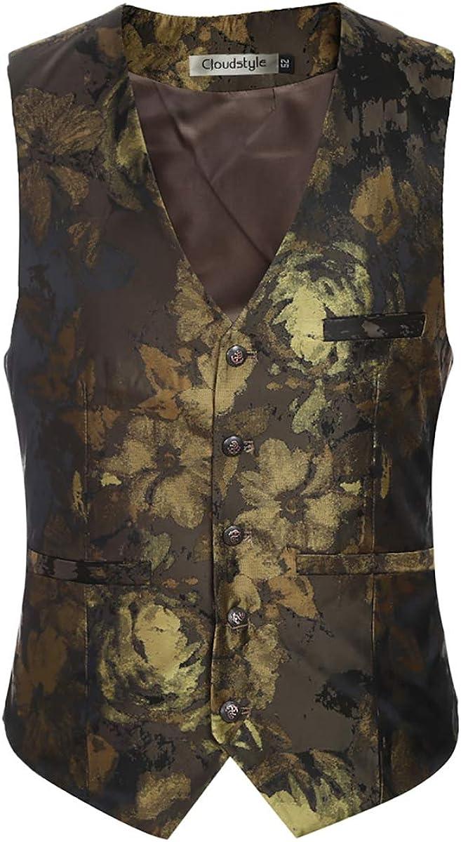 Trajes de hombre 3 piezas Slim Fit traje con muescas solapa estampado floral un botón moderno chaqueta chaqueta chaleco pantalones conjuntos