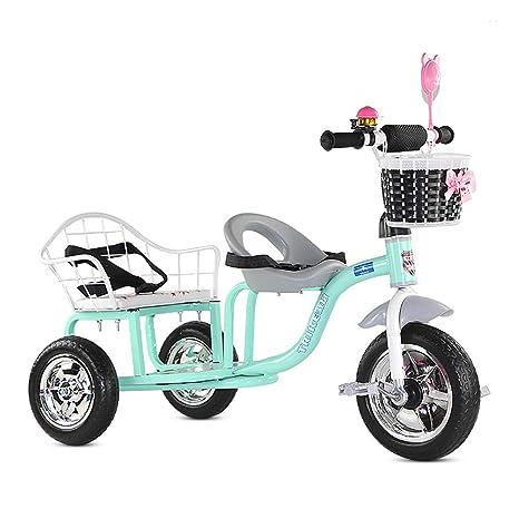 Cochecito de bebé, GUO@ Triciclo para niños Doble Carrito ...