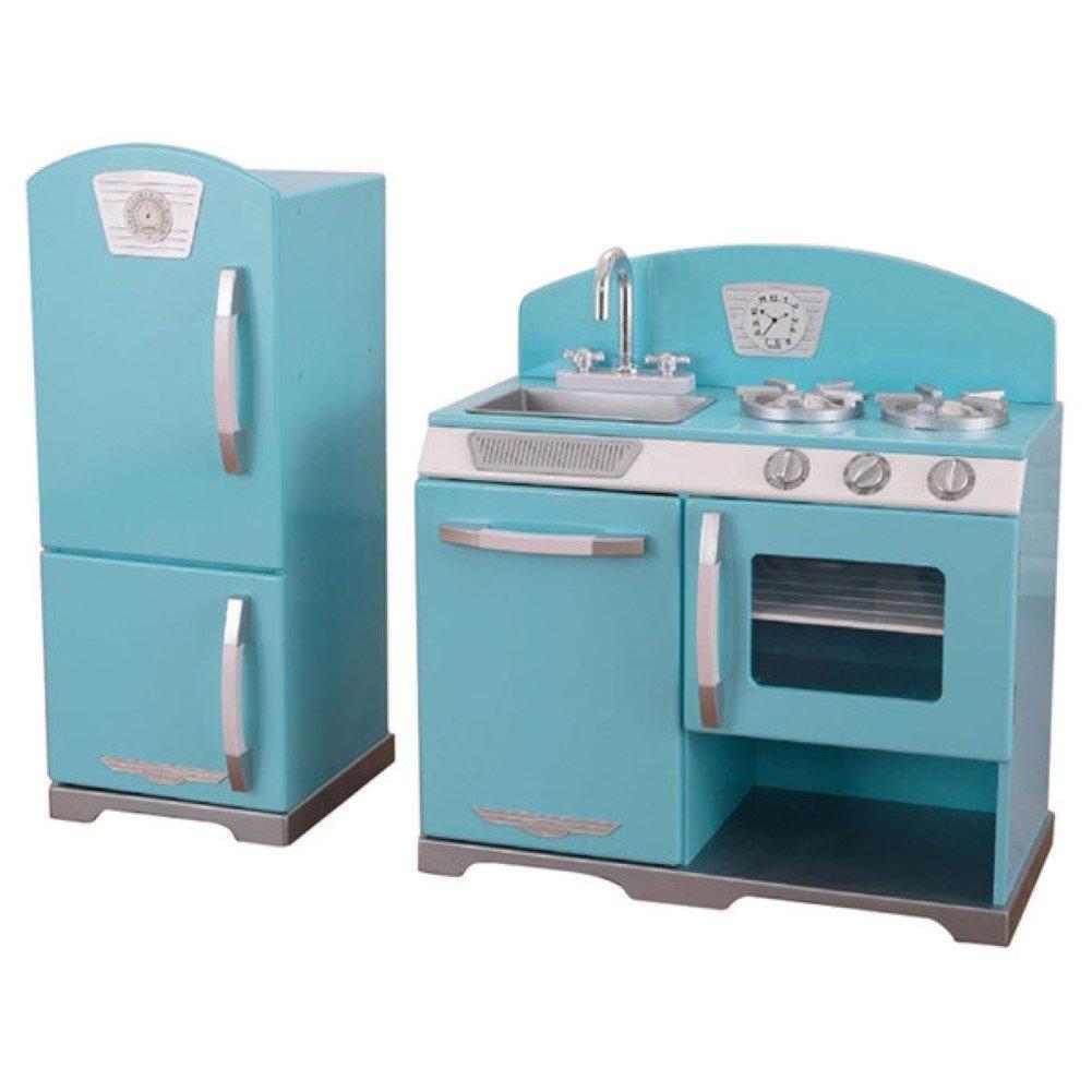 Amazon.com: KidKraft 2 Piece Retro Kitchen and Refrigerator Set ...