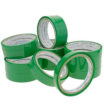 PrimeMatik - Cinta Adhesiva Verde para precintadora Cierra Bolsas de plástico 24-Pack