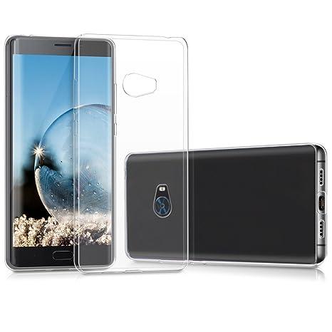 kwmobile Funda para Xiaomi Mi Note 2 - Carcasa Protectora de [TPU] para móvil - Cover [Trasero] en [Transparente]