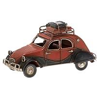 Pamer-Toys Voiture modèle en tôle - Style rétro Vintage Antique - Taille env. 16 x 7 x 9 cm (2CV)