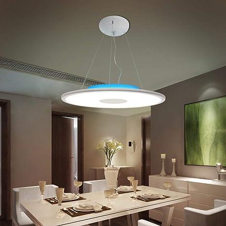 Lámpara Colgante LED Lámpara de techo Luz de Techo Iluminación decorativa con altavoz Bluetooth [Doble altavoz] inteligente 36W Ø50CM RGB 6500K 3000LM ...